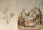 The Supper at Emmaus (with working sketches)