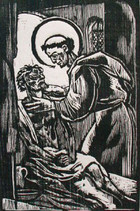 St. Francis Tending the Sick