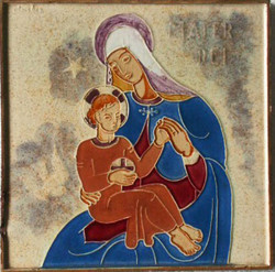 Week Nineteen: Westraven Cloisonne Tile of the Madonna and Child