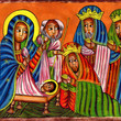 Picture in Focus: Leather Painting of the Three Kings by Unknown Ethiopian Artist