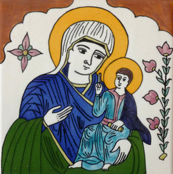 Picture in Focus: Glazed Tile of the Madonna by Unknown Armenian Artist