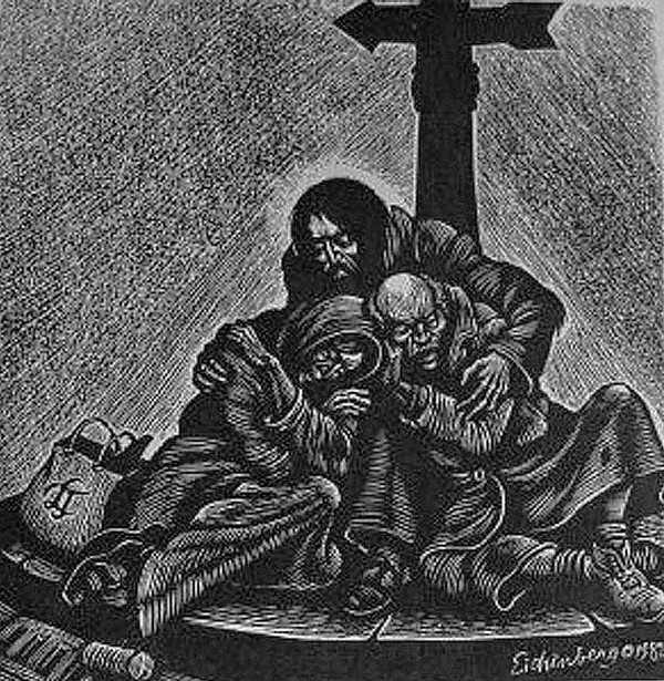 The Christ of the Homeless by Fritz Eichenberg