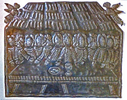Picture in Focus: Hammered Metal Sculpture of the Last Supper by Zilius Muracin