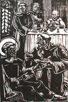 The Ailing St. Francis Receives Food