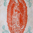 Picture in Focus: Amate Paper Color Woodcut of the Virgin of Guadalupe by Unknown Mexican Artist