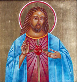 Picture in Focus: Sacred Heart of Jesus Icon by Jodi Simmons