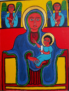 Ethiopian: Madonna  Enthroned
