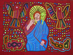 Picture in Focus: Good Shepherd Mola by an Unknown Kuna Artist