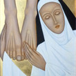 Picture in Focus: St. Catherine of Siena at the Feet of Christ by Jodi Simmons