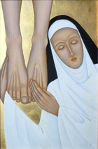 St. Catherine of Siena at the Feet of Christ